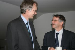 Prof Schack , Head of Department, and Prof Beesley, Dean of Science
